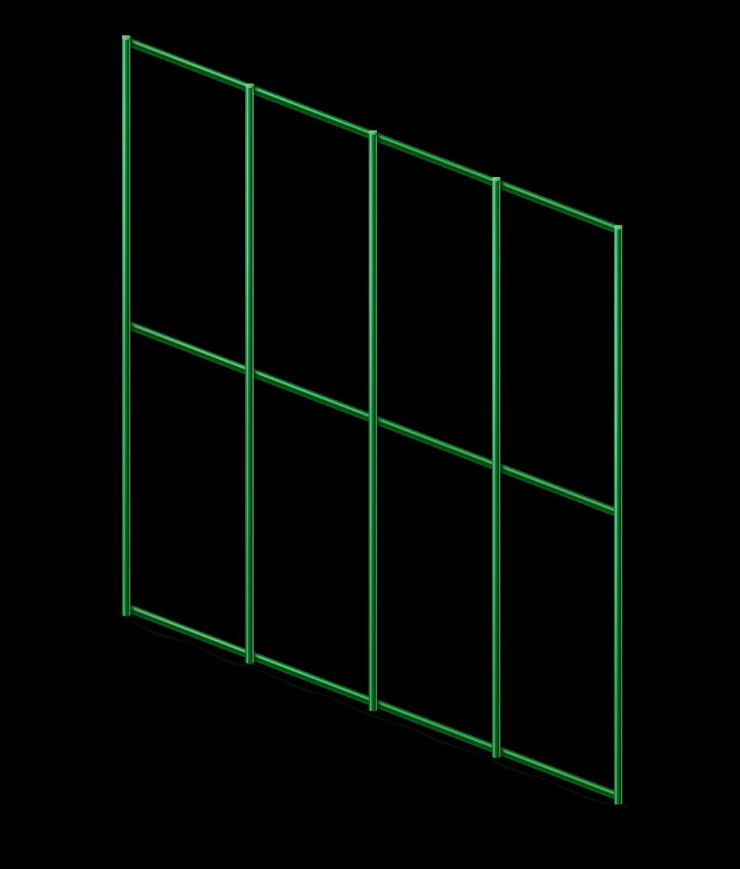 Сетка сварная с ПВХ 50х100 мм., h 1,5 м.