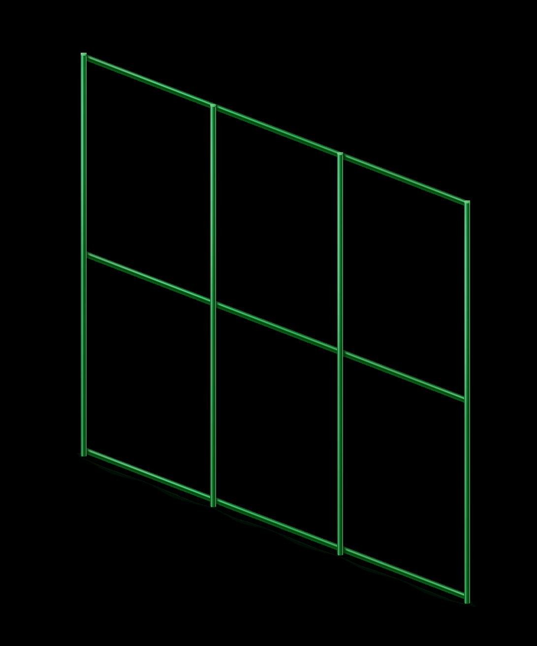 Сетка сварная с ПВХ 75х100 мм., h 1,5 м.
