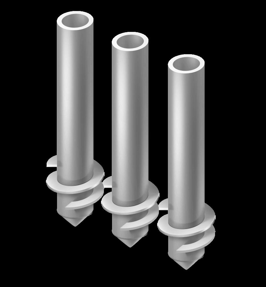 Винтовые сваи (h=3000 — 5500 мм | d=57, 76, 89, 108 мм)