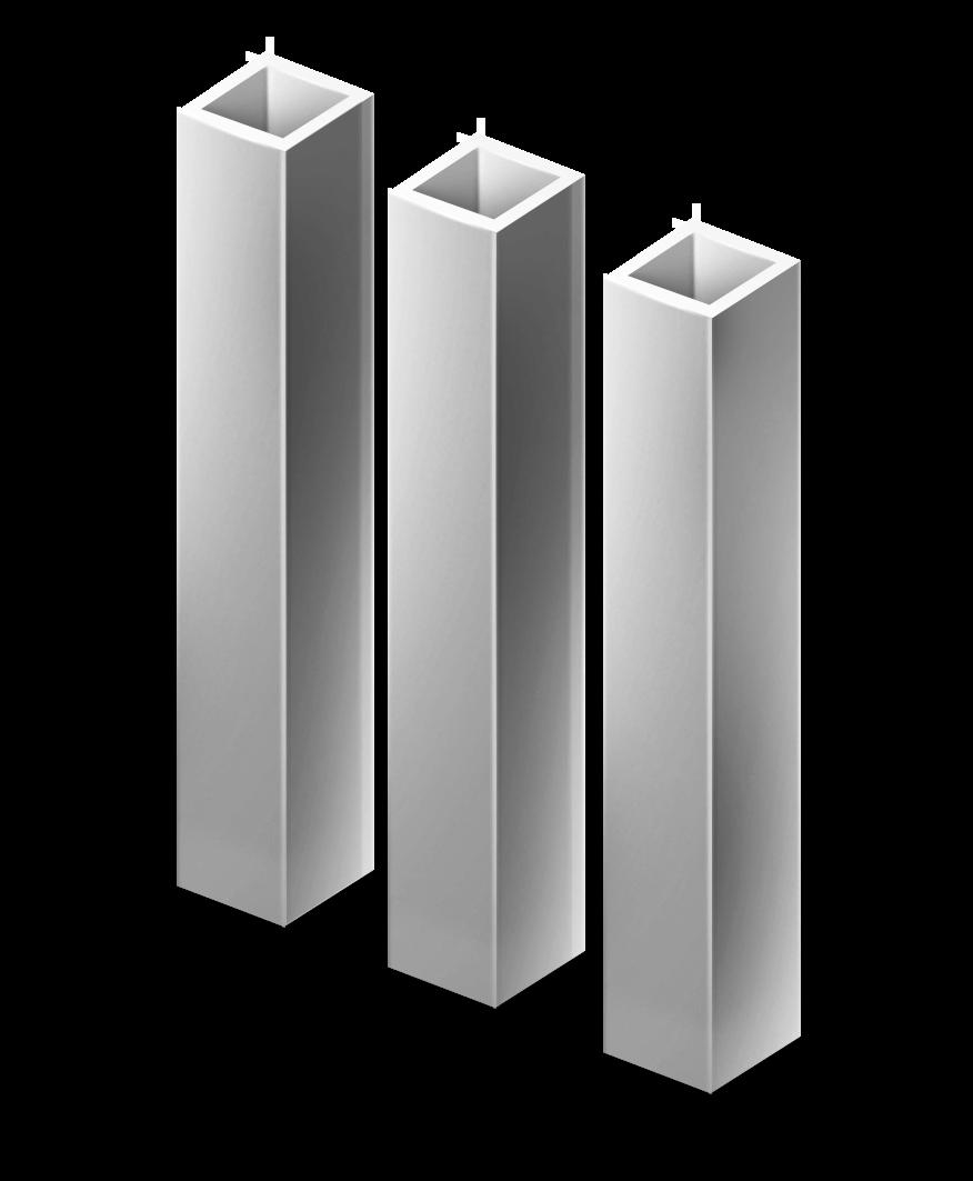 Столб квадратный грунт 40х40 мм. с ушами