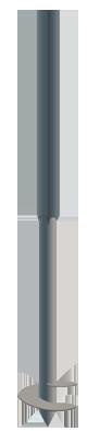 Винтовой столб, 3000 мм (50х50-2000мм/d45-1000мм) - фото 1