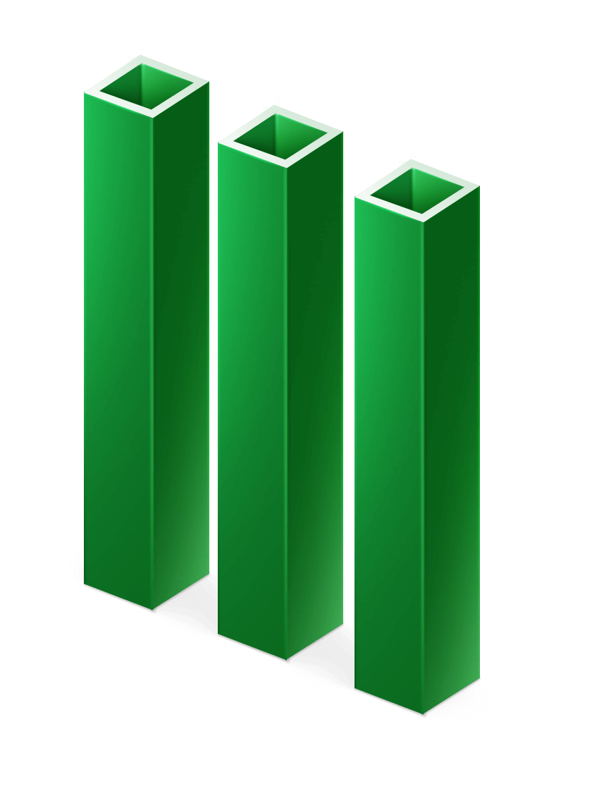 Столб ПВХ, 40х40 мм, высота 3 м