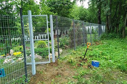 Ограждение дачного участка в Токсово