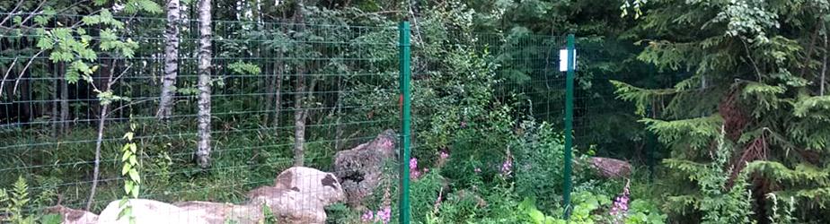 Типовые решения - Забор из сварной сетки «Каскад» (базовый)
